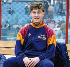 A young Francesco Totti, pictured in 1993