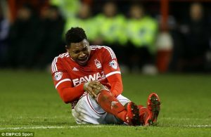 Britt Assambolonga is just one in a long list of injured Forest players
