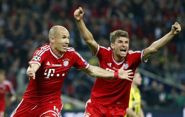 Juventus will have to contain both Robben and Muller to have any chance of progressing to the next round