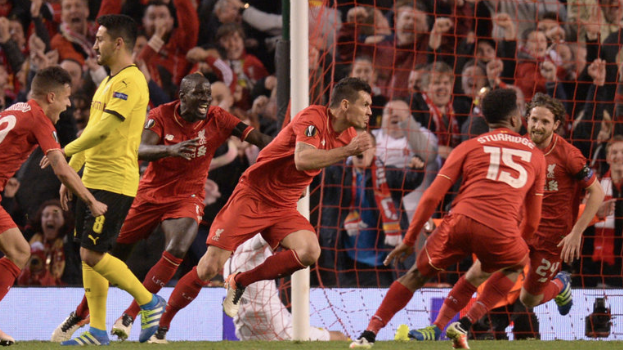 Lovren scored in the 91st minute to give Liverpool a 4-3 lead (5-4 on aggregate)
