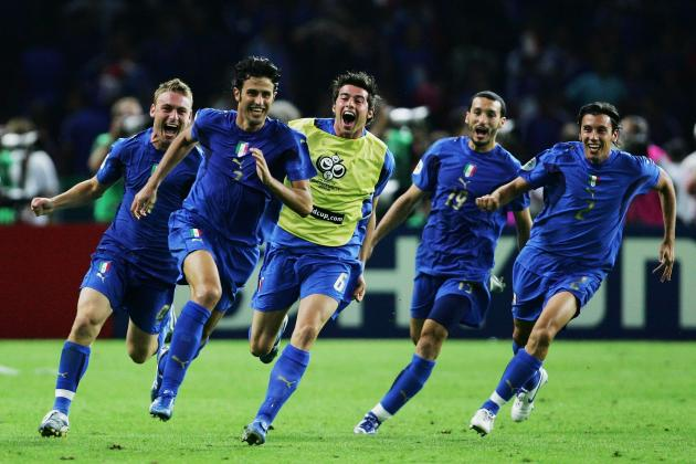 Fabio Grosso scores the winning penalty