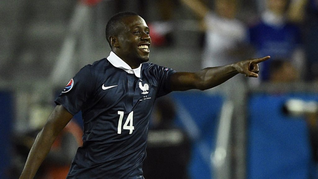 France's midfielder Blaise Matuidi celebrates after scoring during the Euro 2016 friendly football match France vs Serbia at the Matmut Atlantique stadium in Bordeaux September 7, 2015. AFP PHOTO/ FRANCK FIFE
