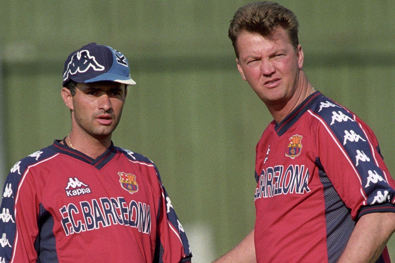 Jose Mourinho and Louis van Gaal worked together at Barcelona in the late 1990s