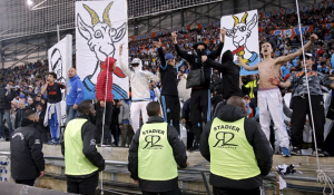 Marseille fans have held countless protests this season, including mocking their own players with images of goats