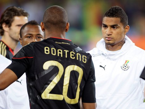 The Boateng brothers represented opposing countries at the World Cup