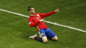 Alvaro Morata scored twice in Spain's victory over Turkey