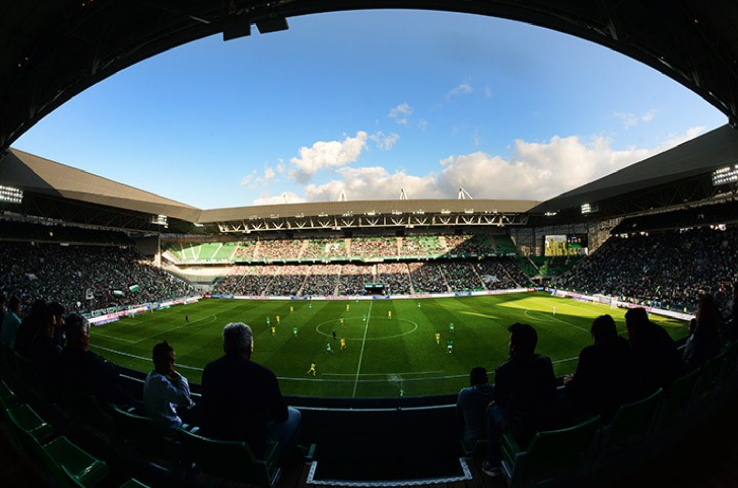 Stade Geoffroy Guichard is home to St Etienne and maintains a distinctly English feel