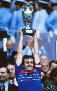 Platini scored nine goals in five games as France lifted the European Championships in 1984