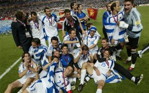 Greece provided one of the biggest shocks in international football as they beat Portugal in the Euro 2004 final