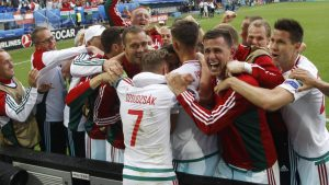 Hungary celebrated their 2-0 win against Austria in wild fashion