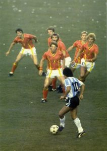 Maradona's performances in 1982 helped distract attention from the Falklands War