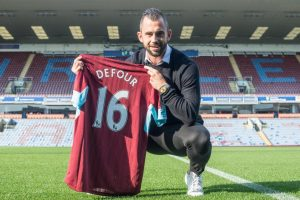 Record signing Steven Defour looks set to make his debut against Liverpool on Saturday