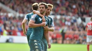 Will Grigg is still on fire and netted twice in Wigan's recent 4-3 loss to Nottingham Forest