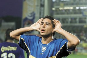 Riquelme during his first spell at Boca