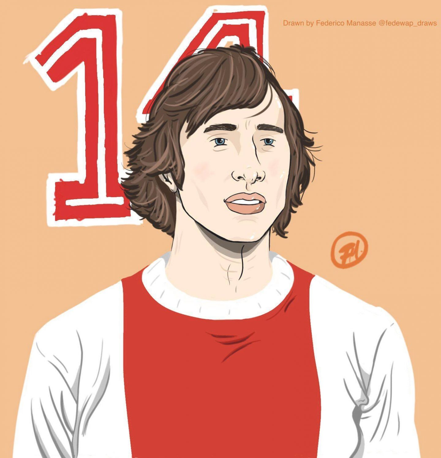 Illustrated: Johan Cruyff