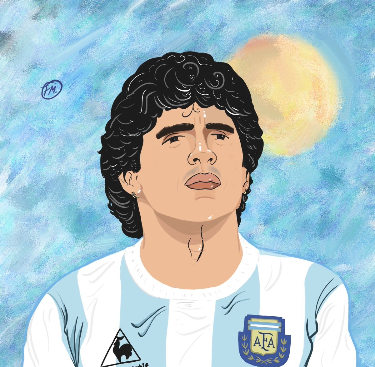 Illustrated: Diego Maradona