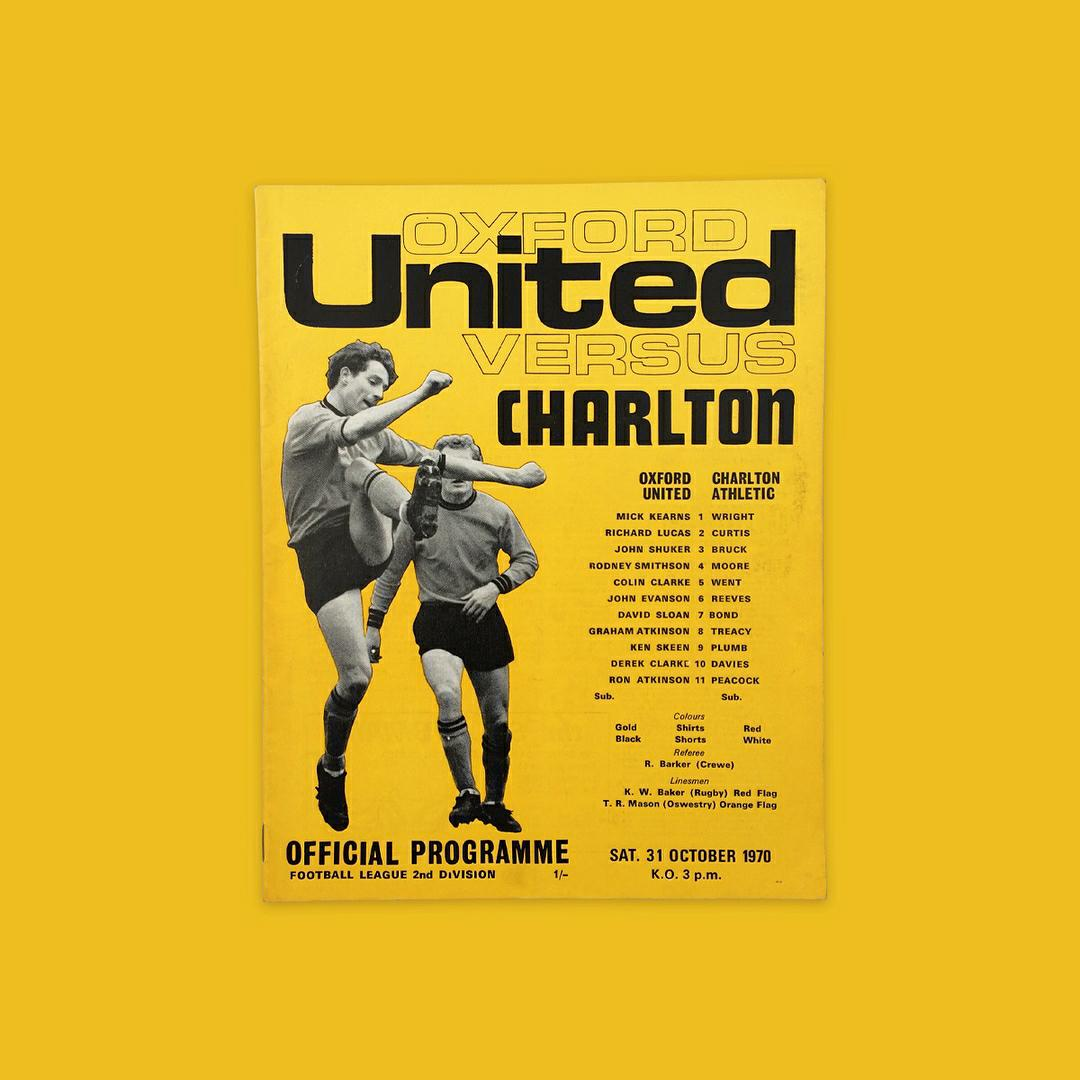 1 Shilling - Oxford Utd. vs. Charlton Athletic